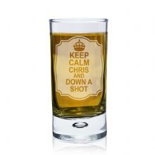 Keep Calm Bubble Shot Glass
